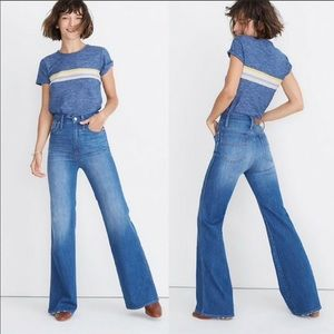 """NEW Madewell  11"""" High-Rise Flare Jeans"""